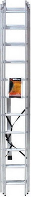Лестница алюминиевая трёхсекционная Вихрь от Холодильник
