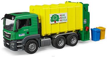 Мусоровоз Bruder MAN TGS (цвет зеленый/желтый) 03-764 купальник cornette цвет желтый зеленый