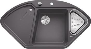 Кухонная мойка BLANCO DELTA II SILGRANIT темная скала с кл.-авт. InFino 523657 смеситель для мойки blanco elipso ii темная скала