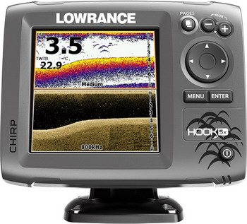 Эхолот Lowrance Hook-5x Mid/High/DownScan lawrence lowrance mark 5x pro dual fish finder chinese edition 5 inch