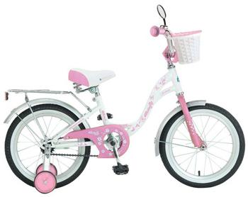 Велосипед Novatrack 167 BUTTERFLY.WPR7 16'' BUTTERFLY  белый-розовый велосипед novatrack a формула 16 2016 сине белый 167formula bl6