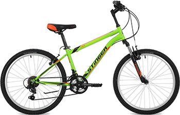 Велосипед Stinger 24'' Caiman 12 5'' зеленый 24 SHV.CAIMAN.12 GN8 велосипед stinger caiman 26 2016