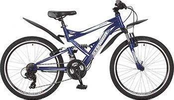 Велосипед Stinger 24'' Versus 16 5'' синий 24 SFV.VERSUS.16 BL7 велосипед stinger versus 26 16 2015 x 60861 blue grey
