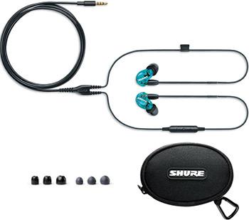 Вставные наушники Shure SE 215 SPE-B-UNI-EFS прозрачный голубой shure cvb w o
