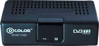 Цифровой телевизионный ресивер D-Color DC 911 HD цифровой телевизионный ресивер d color dc 1301 hd
