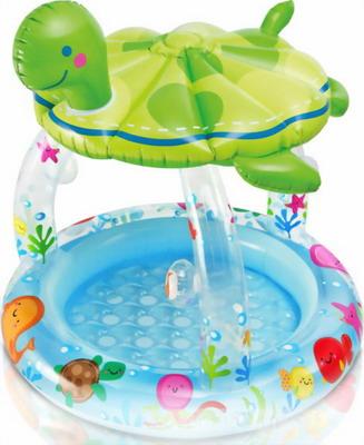 Надувной бассейн для купания Intex Черепашка 57119 NP лодка intex challenger k1 68305