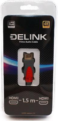 Кабель Delink HDMI -HDMI v. 2.0 1 5м кабель nym j 3х6 0 5м гост
