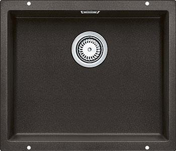 Кухонная мойка BLANCO SUBLINE 500-U SILGRANIT кофе с клапаном-автоматом  цена и фото