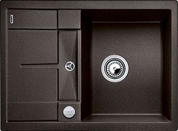 Кухонная мойка BLANCO METRA 45 S COMPACT SILGRANIT кофе с клапаном-автоматом кухонная мойка blanco metra 5 s silgranit серый беж с клапаном автоматом