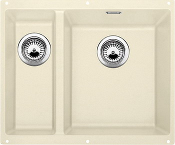 Кухонная мойка BLANCO SUBLINE 340/160-U SILGRANIT жасмин (чаша справа) мойка subline 375 u cer magnolia 519595 blanco