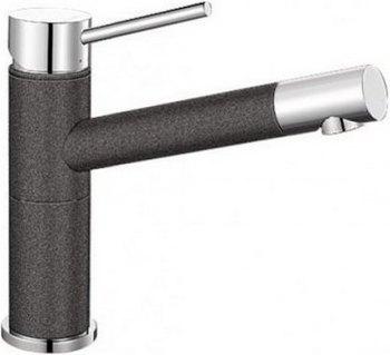 Кухонный смеситель BLANCO ALTA Compact хром/антрацит blanco alta 512319 tap mixing valve oriental style chrome by blanco