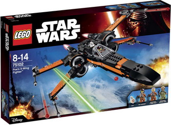 Конструктор Lego STAR WARS Истребитель ПО (POE'S X-WING FIGHTER) 75102 star wars tm истребитель повстанцев