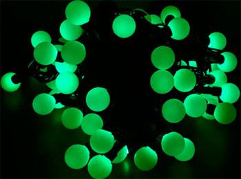Гирлянда-нить Snowhouse ''БОЛЬШИЕ МУЛЬТИШАРИКИ'' зеленые OLDBL 100-G-E гирлянда snowhouse штора светодиодная oldcl625 tg e green