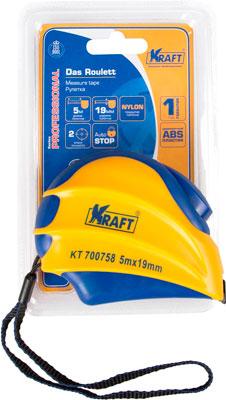 Рулетка Kraft 5м х 19мм KT 700758 съёмник шаровых опор шарнирных соединений с рычагом kraft cr v kt 701025