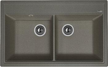 Кухонная мойка Florentina Липси-820 820х510 черный FSm искусственный камень