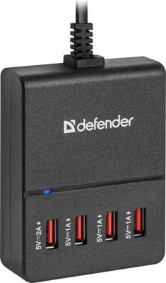 Сетевой адаптер Defender UPA-40 4 порта USB 83537 defender tesla 5000 83638