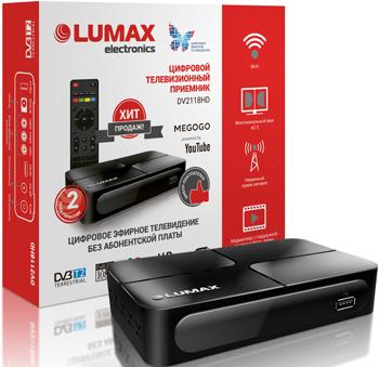 Цифровой телевизионный ресивер Lumax DV 2118 HD цифровой телевизионный ресивер lumax dv 4201 hd
