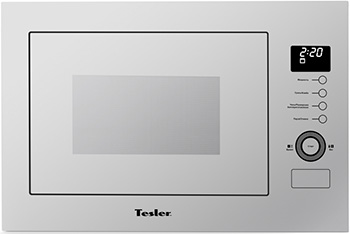 Встраиваемая микроволновая печь СВЧ TESLER MEB-2590 W белый встраиваемая микроволновая печь свч samsung fw 77 sr w