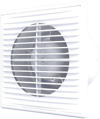 Вентилятор осевой вытяжной c антимоскитной сеткой, обратным клапаном AURAMAX, D 125 (B 5S C)