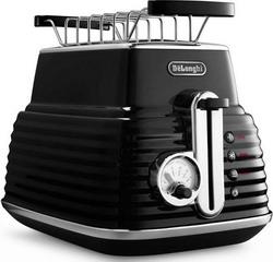 Тостер DeLonghi CTZ 2103 BK Scultura чёрный тостер delonghi ctov 2103 az