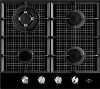 Встраиваемая газовая варочная панель MBS PG-625 Black варочная поверхность mbs pg 302bl