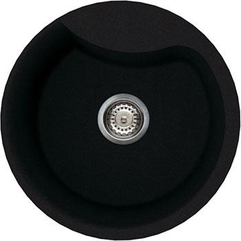 Кухонная мойка Elleci EGO ROUND  granitek (40) full black LGEROU 40 мойка кухонная elleci easy 135 680x500 granitek 51 lgy13551