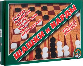 Настольная игра Десятое Королевство ШАШКИ / НАРДЫ БОЛЬШИЕ нарды хохлома