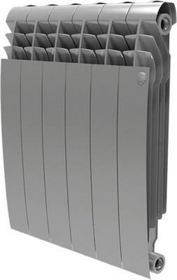Водяной радиатор отопления Royal Thermo BiLiner 500-6 Silver Satin биметаллический радиатор royal thermo biliner 500 silver satin 8 секций