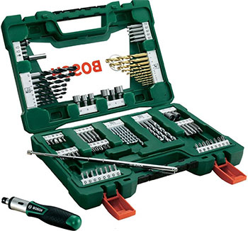 Набор бит и сверл Bosch V-Line Titanium из 91 шт. 2607017195 white line natura набор д депил картридж подогрев 2 лосьона полоски вид инструкция