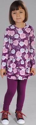 Лосины Fleur de Vie 24-1724 рост 128 фиолетовый комплект fleur de vie 24 0660 рост 128 розовый