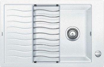 Кухонная мойка BLANCO ELON XL 6 S-F белый  с клапаном-автоматом мойка кухонная blanco elon xl 6 s шампань с клапаном автоматом 518741