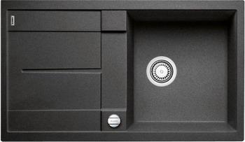Кухонная мойка BLANCO METRA 5 S-F антрацит с клапаном-автоматом blanco metra 5 s f с клапаном автомата аллюметаллик