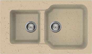 Кухонная мойка OMOIKIRI Maru 86-2-СH Tetogranit/шампань (4993291)