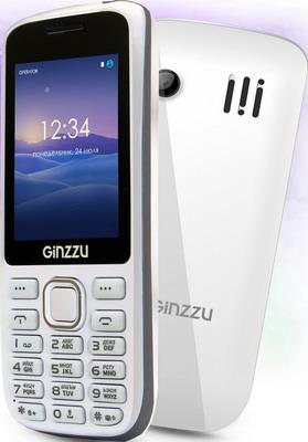 Мобильный телефон Ginzzu M 201 белый/серый телефон проводной texet tx 201 белый