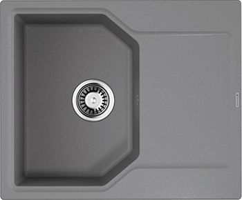 Кухонная мойка OMOIKIRI Yonaka 61-GR Artgranit/Leningrad Grey (4993636) кухонный смеситель omoikiri tateyama s gr латунь гранит leningrad grey 4994176