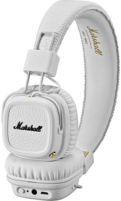 Наушники Marshall Major II Bluetooth White накладные наушники marshall major ii brown