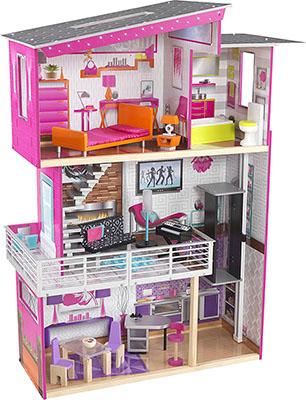 Кукольный дом для Барби KidKraft Роскошный дизайн 65871_KE пилка dewal прямая белая 180 240 18 см