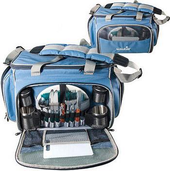 Термосумка с набором для пикника Norfin KUHMO NFL термосумка norfin luiro m nfl цвет голубой 43 см х 25 см х 27 см