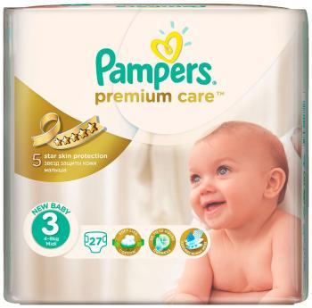 Подгузники Pampers Premium Care Midi 4-9 кг  3 размер  27 шт pampers подгузники pampers premium care 5 9 кг 3 размер 20 шт