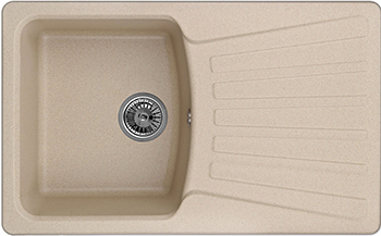 Кухонная мойка Weissgauff CLASSIC 800 Eco Granit бежевый  weissgauff classic 695 eco granit чёрный