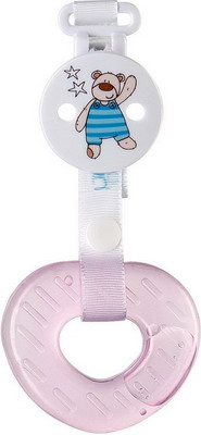 Зубопрорезыватель Happy Baby TEETHER GEL+ 20004 Pink зубопрорезыватель happy baby silicone teether 20014