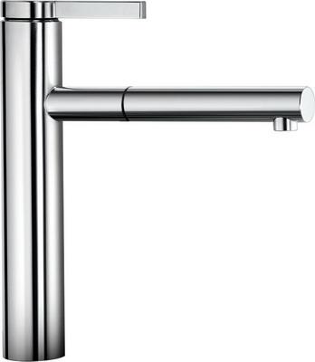 Кухонный смеситель BLANCO LINEE-S хром  смеситель linee chrome 517594 blanco