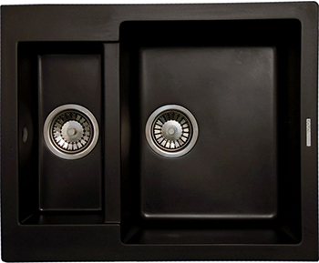 Кухонная мойка LAVA D.1 (BASALT чёрный) кухонная мойка ukinox stm 800 600 20 6