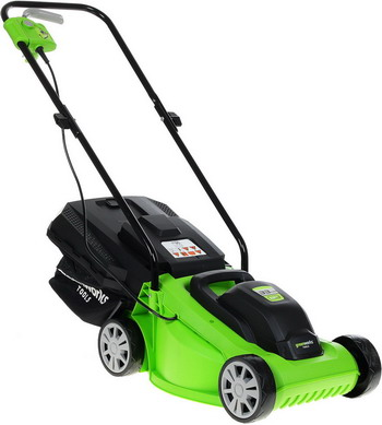 Колесная газонокосилка Greenworks GLM 1232 2502207 газонокосилка huter glm 5 0 s