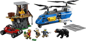 Конструктор Lego City Police: Погоня в горах 60173 building blocks city police station coastal guard swat truck motorcycle learning