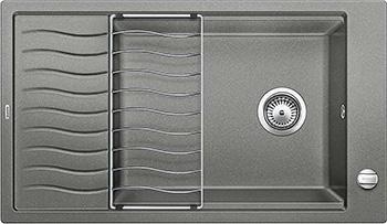 Кухонная мойка BLANCO ELON XL 6S SILGRANIT алюметаллик с клапаном-автоматом inFino 524836 мойка кухонная blanco elon xl 6 s жасмин с клапаном автоматом 518740