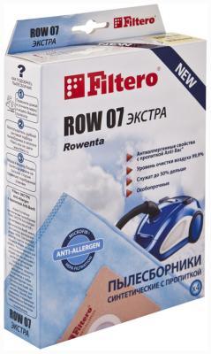 Набор пылесборников Filtero ROW 07 (4) ЭКСТРА Anti-Allergen набор пылесборников filtero lge 01 4 экстра anti allergen