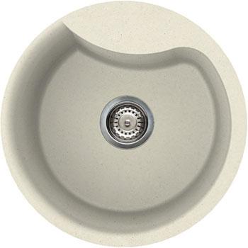 Кухонная мойка Elleci EGO ROUND  granitek (62) Bianco Antico LGEROU 62