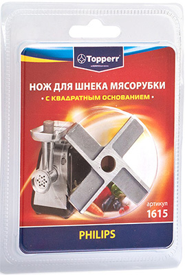 Нож для мясорубок Topperr PHILIPS 1615 мультиварка philips hd3158 03 980вт 5л 17прог
