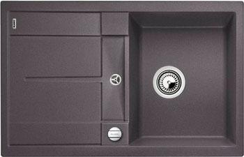 Кухонная мойка BLANCO METRA 45 S-F темная скала с клапаном-автоматом blanco metra 6 silgranit темная скала с клапаном автоматом